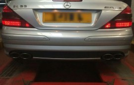 Mercedes at SS Motors In Weybridge Surrey car in workshop image 8