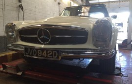 Mercedes at SS Motors In Weybridge Surrey car in workshop image 9