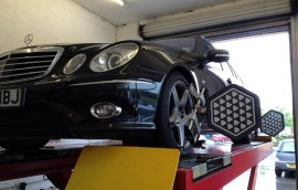Mercedes at SS Motors In Weybridge Surrey car in workshop image 2